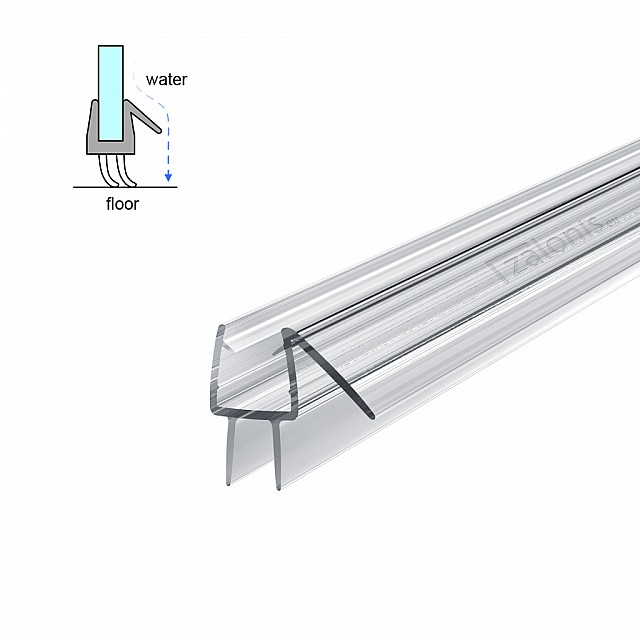 HARD FIN SHOWER SEAL FOR 8-10mm GLASS - 2m